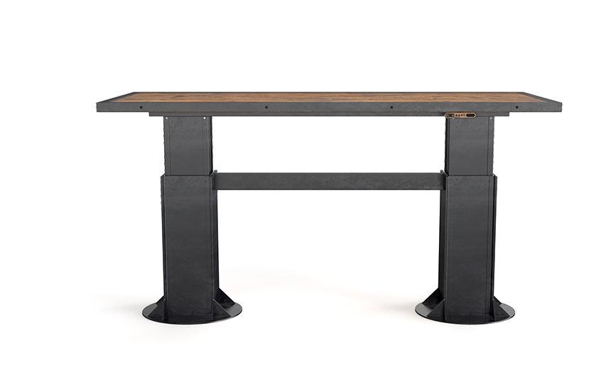 Industrial Solid Steel Wood Desk Modern Rustic Vintage