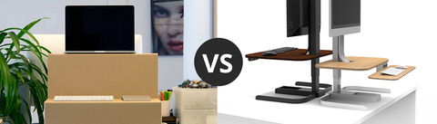 Standing desk converter options