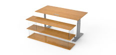 Medium Bamboo Desk Front Shelf